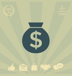 bag of money icon with dollar symbol vector image