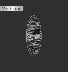 black and white style icon of mitochondrion vector image vector image