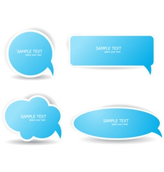 blue speech bubbles vector image