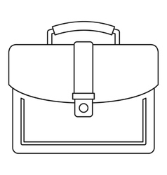 Briefcase icon outline style vector image