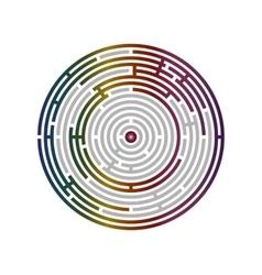 Circular labyrinth abstract logic puzzle vector image vector image