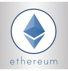 Ethereum cripto currency logo vector image vector image