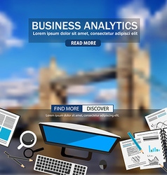 Flat style design concepts for business analytics vector