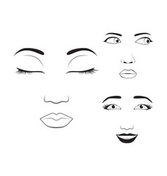 girl emotion face cartoon and vector image