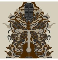 Guitar zentangle vector
