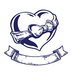 Heart tattoo vector image vector image