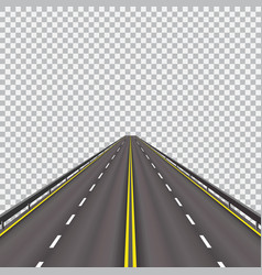 high-speed highway in the future isolated on a vector image vector image