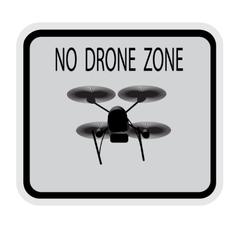 Image drone Caption no drone zone vector image