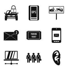 Important data icons set simple style vector