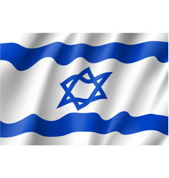 israel national flag vector image vector image