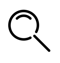 magnifying glass symbol search icon outline vector image vector image