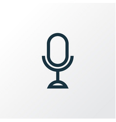 microphone outline symbol premium quality vector image
