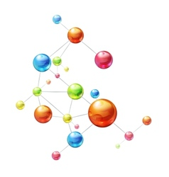 Molecule on white vector image vector image