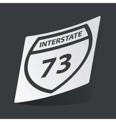Monochrome interstate 73 sticker vector