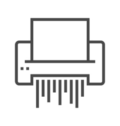 Paper Shredder Line Icon vector image