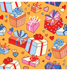 pattern gifts vector image vector image