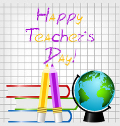 postcard for teacher s day vector image