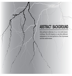 Realistic lightning on dark background vector