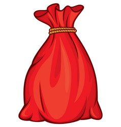 Red santa claus bag or christmas sack vector