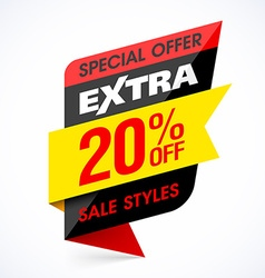 Sale extra design element vector