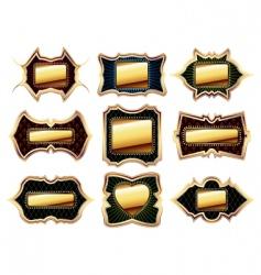 set of golden frames vector image vector image