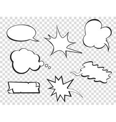Set of pop art comic vector