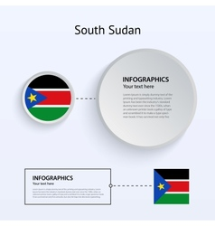 South Sudan Country Set of Banners vector image vector image
