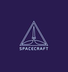 Spacecraft logo vector