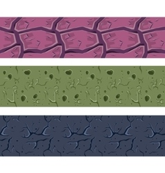 Stone wall or ground colourful seamless texture vector
