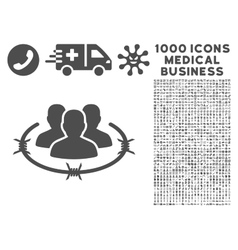 Strict Management Icon with 1000 Medical Business vector image