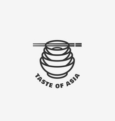 taste of asia logo vector image vector image