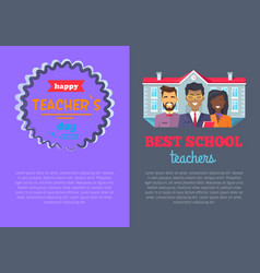 Two posters best teacher on vector