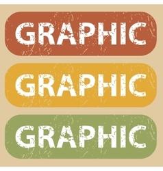 Vintage graphic stamp set vector