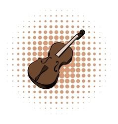 Violin comics icon vector image vector image