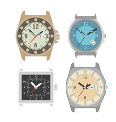 Watches set Stylish accessory for men vector image