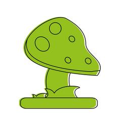 Wild mushroom icon image vector