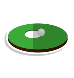Hole golf sport icon vector