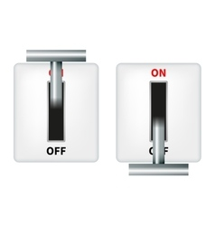 An electric knife switch vector