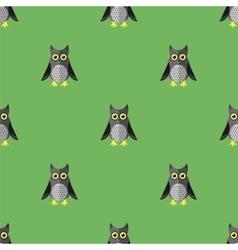 Cartoon Owl Seamless Pattern vector image