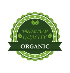 Organic premium quality label vector