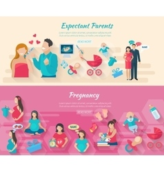 Pregnancy banner set vector