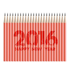 Happy new year 2016 with pencils background vector