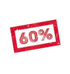 60 percent rubber stamp vector