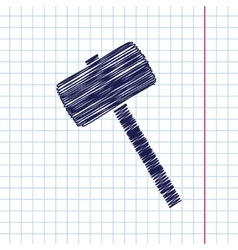Hammer icon epshand drawn0 vector