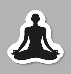 Yoga meditation harmony body and soul template vector