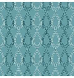 Seamless pattern symmetrical geometric with drops vector