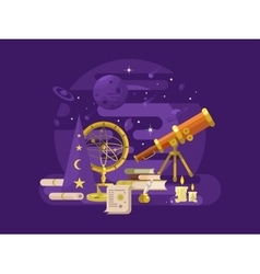 Astronomy design retro vector