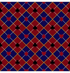 Card suits red royal blue diamond background2 vector