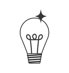 Light bulb icon energy design graphic vector