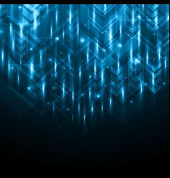 Abstract light arrow technology digital vector